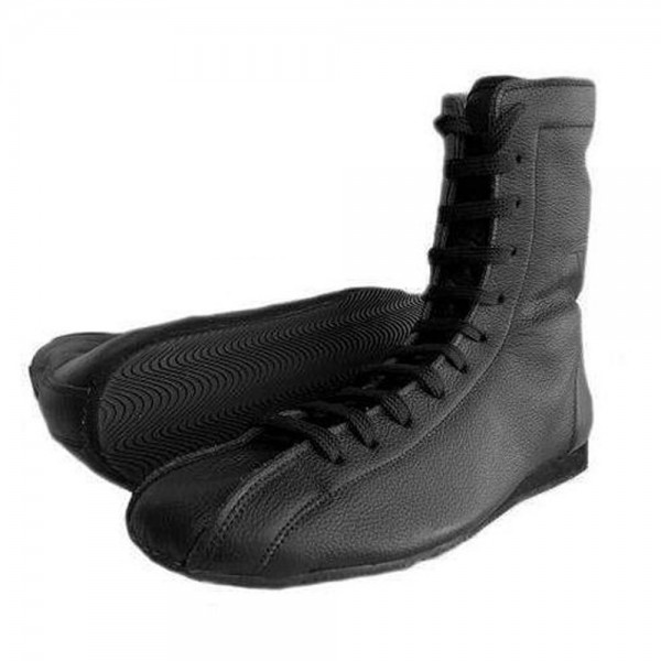 Boxing Boots Black Leather