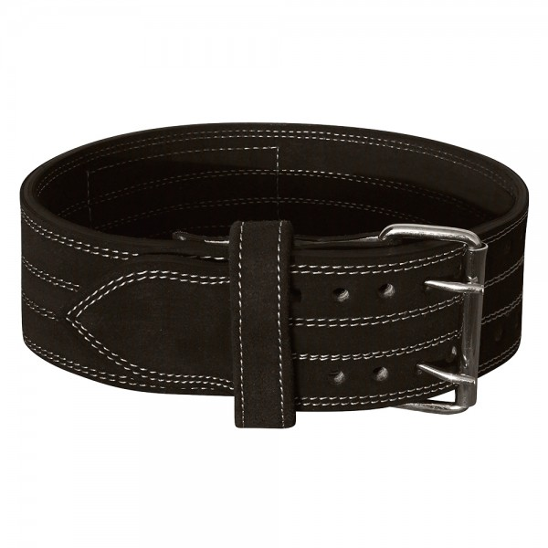 Genuine Leather Power Heavy Duty Weight Lifting Body Building Belt Black