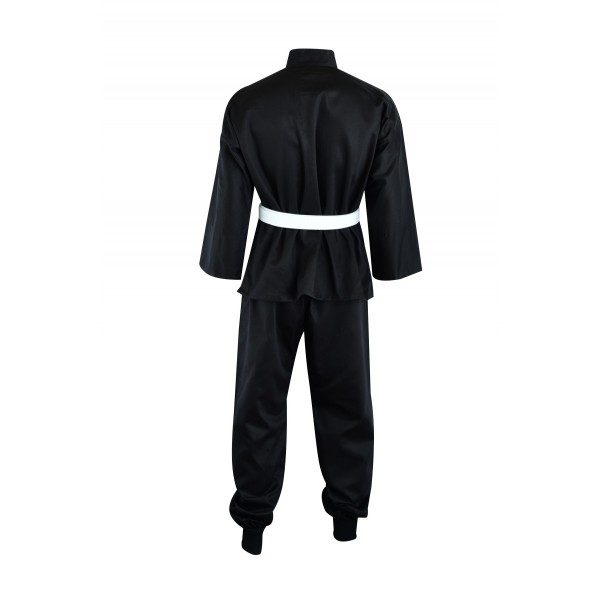 Adult Kung Fu Suit Cotton Black/White