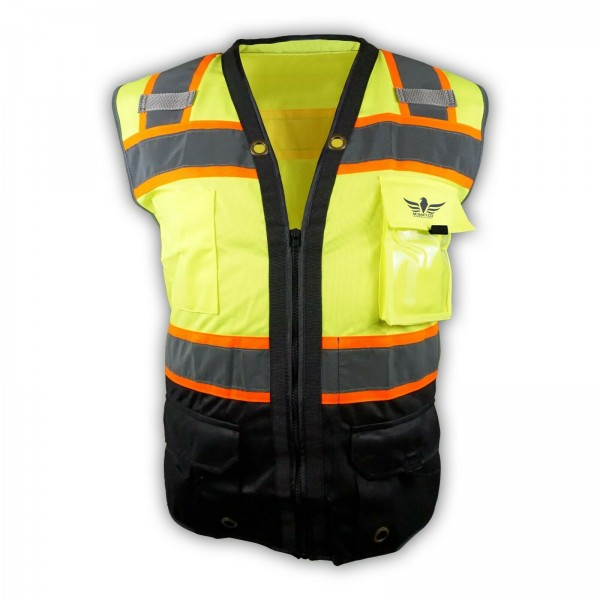 Black Lime Two Tones Safety Vest