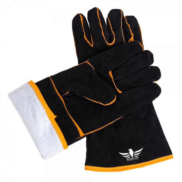 Heavy Duty Welders Welding Gauntlets Safety Leather Gloves Heat Resistant