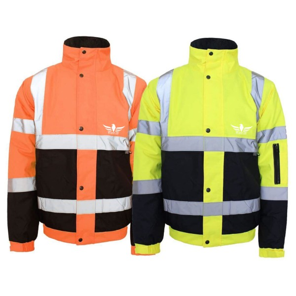 Hi Viz Vis Waterproof Safety Work Wear Coat