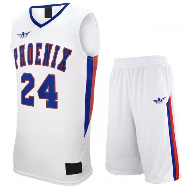 Basketball Uniform White/Blue/Red